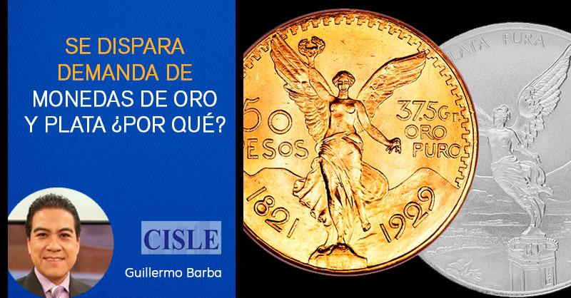 Se dispara demanda de monedas de oro y plata ¿Por qué?