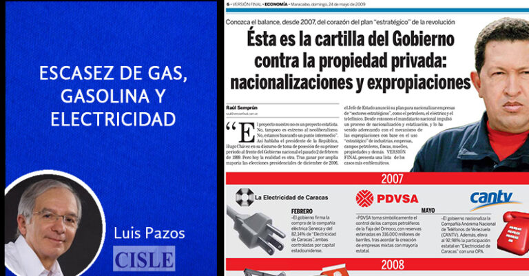 Lee más sobre el artículo Escasez de gas, gasolina y electricidad